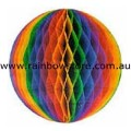 Rainbow Medium Tissue Ball Decoration Gay Lesbian Pride