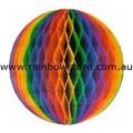 Rainbow Medium Tissue Ball Decoration Gay Lesbian Pride