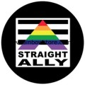 Straight Ally LGBTQ Badge Button 2.25 inch Diameter