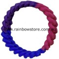 Bisexual Silicone Connected Chain Links Wrist Band Bi Pride Wristband