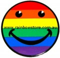Rainbow Happy Face Sticker Static Cling Gay Lesbian Pride