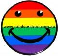 Rainbow Happy Face Sticker Static Cling Gay Lesbian Pride