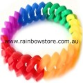 Rainbow Silicone Connected Chain Links Wrist Band Gay Lesbian Pride Wristband
