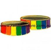Rainbow Wedding Rings Lapel Pin