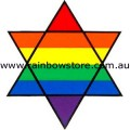 Star Of David Rainbow Sticker Adhesive Lesbian Gay Pride