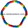 Rainbow Shells Surfer Stretch Bracelet Gay Lesbian Pride