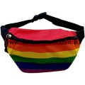 Rainbow Stripe Polyester Waist Bum Bag Lesbian Gay Pride