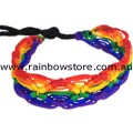 Rainbow Macrame Diamonds Friendship Bracelet Lesbian Gay Pride