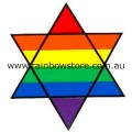 Rainbow Star of David Magnet Gay Lesbian  Pride