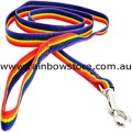 MEDIUM DOG Pet Lead Leash Rainbow Nylon Webbing Lesbian Gay Pride