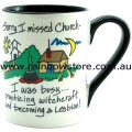 Sorry I Missed Church Ceramic Mug Gay Lesbian Pride