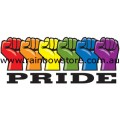Rainbow Pride Power Adhesive Sticker Gay Lesbian Pride
