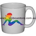 Rainbow Mudflap Trucker Girl Ceramic Mug Gay Lesbian Pride