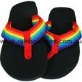 Flip Flops Rainbow Strap Thongs 10 inch Lesbian Gay Pride