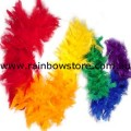 Rainbow Chandelle Feather Boa