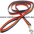 SMALL DOG Pet Lead Leash Rainbow Nylon Webbing Lesbian Gay Pride