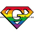 Rainbow Super Gay Adhesive Sticker Gay Pride