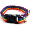 PUPPY And CAT Rainbow Adjustable Pet Collar Lesbian Gay Pride