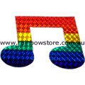 Music Note Rainbow Sticker Holographic Adhesive Gay Lesbian Pride