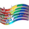 Stars Wavy Bar Rainbow Sticker Reflective Adhesive Gay Lesbian Pride