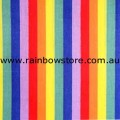 Rainbow Cotton Bandanna Multi Stripes Bandana Gay Lesbian Pride