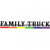 Family Truck Rainbow Bar Bumper Sticker Adhesive