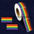 People of Colour Rectangle Plastic Coated Paper Adhesive Stickers Roll of 250 POC Gay Lesbian Pride