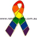 Rainbow Ribbon Lapel Pin