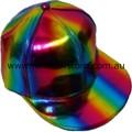 Rainbow Metallic Style Baseball Cap Hat Lesbian Gay Pride