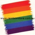 Rainbow Brushstroke Temporary Tattoo Gay Lesbian Pride