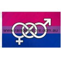 Bisexual Flag With Symbol Deluxe Polyester 3 feet by 5 feet Bi Pride