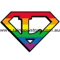 Super Lesbian Rainbow Sticker Adhesive Lesbian Pride