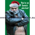 Santa's Shit-List Xmas Card Gay Pride