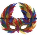 Rainbow Feather Mask Lesbian Gay Pride