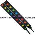 Rainbow Stars Shoelaces 112cm 45 inch