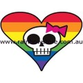 My Sweet Fiend Rainbow Sticker Adhesive Gay Lesbian Pride