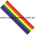 Rainbow Grosgrain Extra Large Ribbon Both Sides 3.8 cm by 1 metre Gay Lesbian Pride