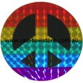 Peace Sign Rainbow Sticker Holographic Black Centre Adhesive Gay Lesbian Pride