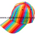 Rainbow Stripe Baseball Cap Hat Lesbian Gay Pride