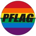 Rainbow PFLAG Badge Button Lesbion Gay Pride