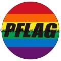 Rainbow PFLAG Badge Button 3cm 1.1 inch Diameter Lesbian Gay Pride