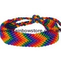 Rainbow Victory Friendship Diagonal Bracelet Gay Lesbian Pride