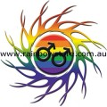 Male Rainbow Eye Of The Storm Sticker Adhesive Gay Pride