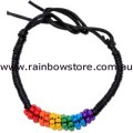 Rainbow Seed Bead Friendship Bracelet Lesbian Gay Pride