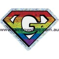 Super Gay Rainbow Diamond Holographic Sticker Adhesive Gay Pride