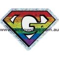 Super Gay Rainbow Diamond Holographic Sticker Adhesive Gay Pride
