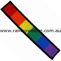 Rainbow Bar Embroidery Iron On Patch Gay Lesbian Pride