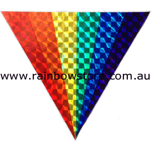 Gay sticker rainbow squiggle