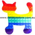 Rainbow Cat Sticker Holographic Adhesive Lesbian Gay Pride