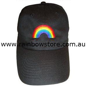 1b57fee90d2bc Rainbow Arch Black Baseball Cap Hat Lesbian Gay Pride - Rainbow Store